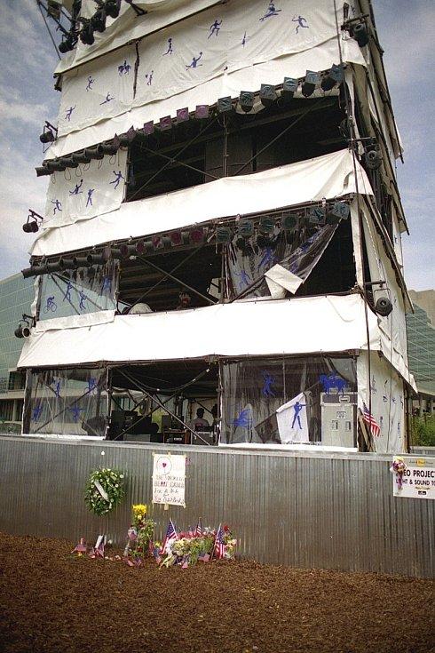 Zvukařská věž, u níž atentátník Eric Robert Rudolph odpálil bombu.