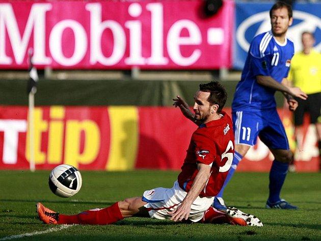 Tomáš Sivok v utkání proti Lichtenštejnsku.