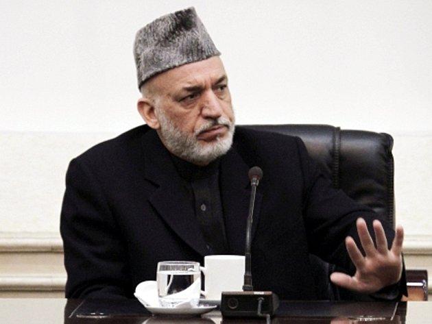 Afghánský prezident Hamíd Karzáí.