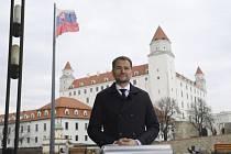 Předseda hnutí Obyčejní lidé a nezávislé osobnosti (OLaNO) Igor Matovič před rozhovorem s Českou televizí, 1. března 2020 v Bratislavě. Hnutí vyhrálo slovenské parlamentní volby