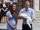 Kate a William se svým synem.