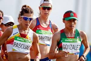 Anežka Drahotová (uprostřed) na olympijských hrách v Riu.