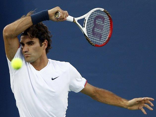 Roger Federer na turnaji v Cincinnati.