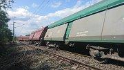 Vykolejení nákladního vlaku v Praze-Vršovicích
