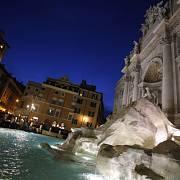 Fontána di Treva v Římě.