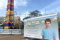 Věž z půl milionu kostiček Lega vznikla v Tel Avivu na památku chlapce, který zemřel na rakovinu