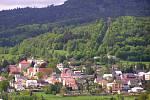 Pohled na Jiřetín pod Jedlovou