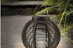 Ratanová solární lampa Cole & Bright