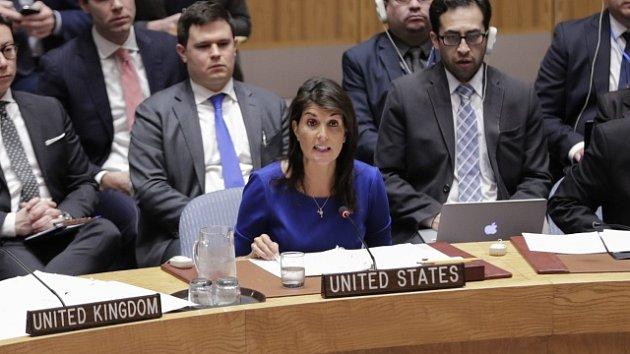 Americká velvyslankyně při OSN Nikki Haleyová