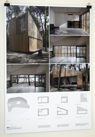 Hlavní cenu vsoutěži Grand Prix architektů 2015získala chata ujezera vDoksech postavená podle návrhu Pavla Nasadila a Jana Horkého ze studia FAM.