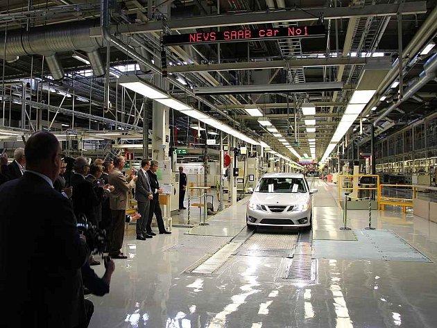 Obnvovená výroba vozů značky Saab v závodě ve městě Trollhättan.