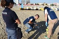 Místo činu znásilnění polské turistky v Rimini