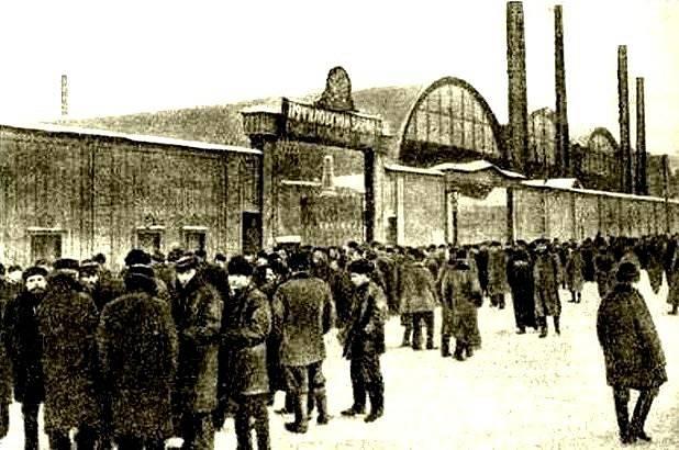 Petrohradští dělníci v lednu 1905