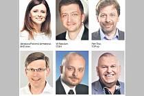 Lídři kandidátních listin politických stran a uskupení, které ve středních Čechách uspěly v krajských volbách.