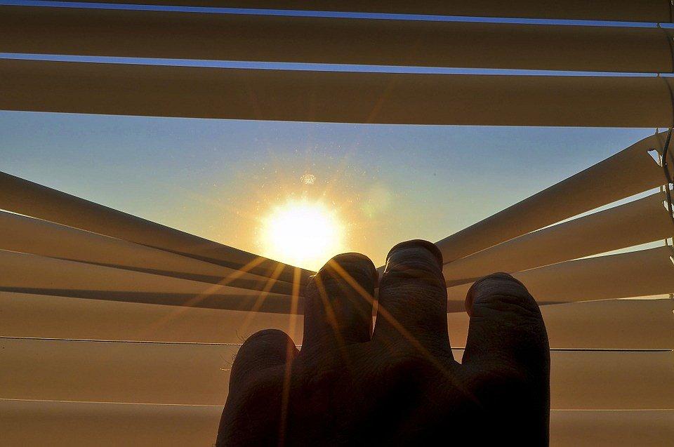 Okna by měla být celý den zastíněna.