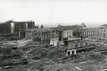 Zničené budovy krátce po výbuchu dusičnanového hnojiva síranu amonného v chemičce v Oppau 21. září 1921