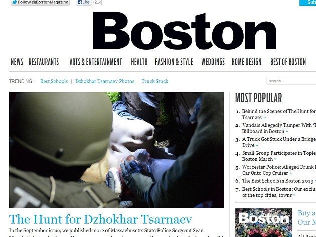 Boston Magazine zveřejnil další snímky zásahu proti Carnajevovi