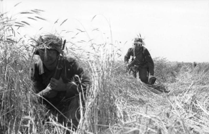 Němečtí pěšáci při bojích na Ukrajině, červenec 1941