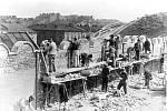 Stavění vnější zdi krakovského ghetta, květen 1941
