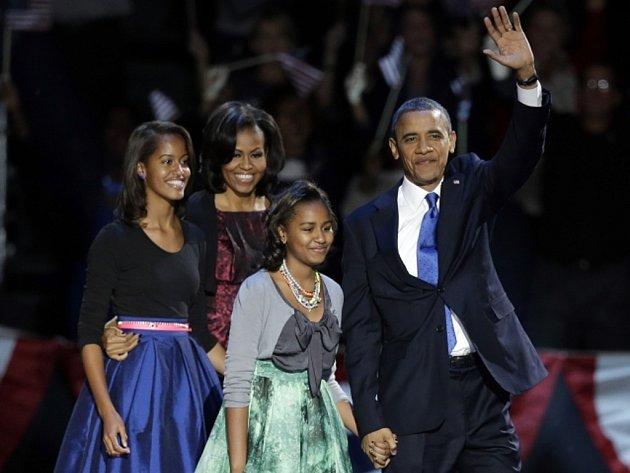 Prezident USA Barack Obama s rodinou.