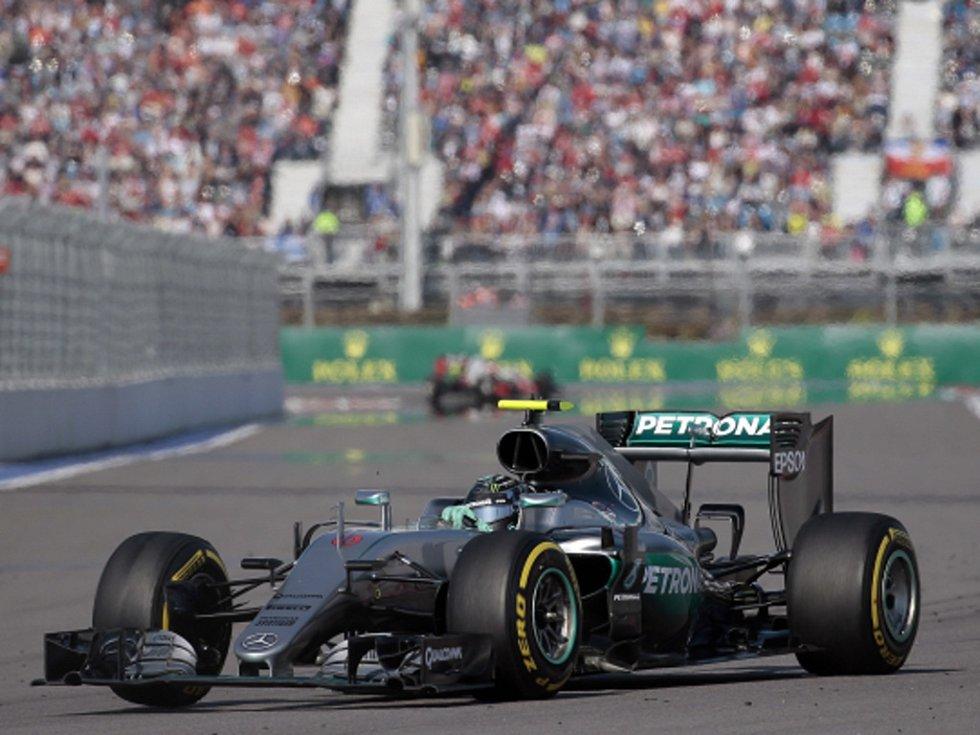 Nico Rosberg ve Velké ceně Ruska.