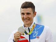 Jaroslav Kulhavý se stříbrnou medailí z olympijských her v Riu.