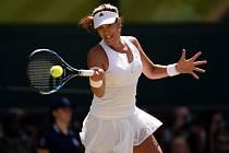Největší překvapení Wimbledonu Garbiñe Muguruzaová.