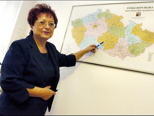 Bývalá předsedkyně výkonného výboru Pozemkového fondu Jiřina Böhmová.