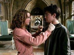 Harry Potter a vězeň z Azkabanu. Emma Watson, Daniel Radcliffe.
