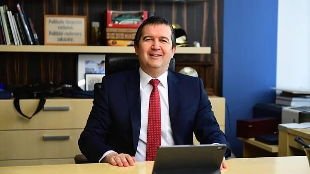 Předsedsa České strany sociálně demokratické (ČSSD) Jan Hamáček na on-line sjezdu strany,