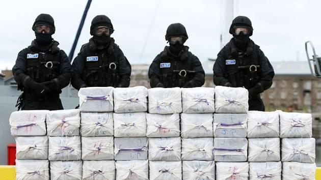 Zabavený kokain, ilustrační foto.