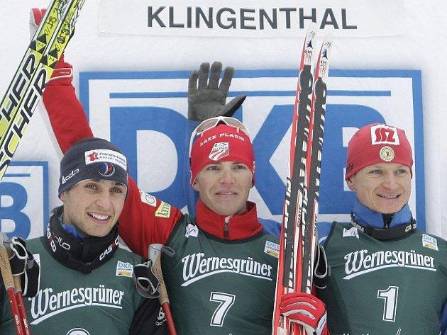 Před mistrovstvím světa v Liberci se ve vynikající formě představili čeští sdruženáři. V německém Klingenthalu skončili dva v první pětici. Churavý 3., Slavík 5.