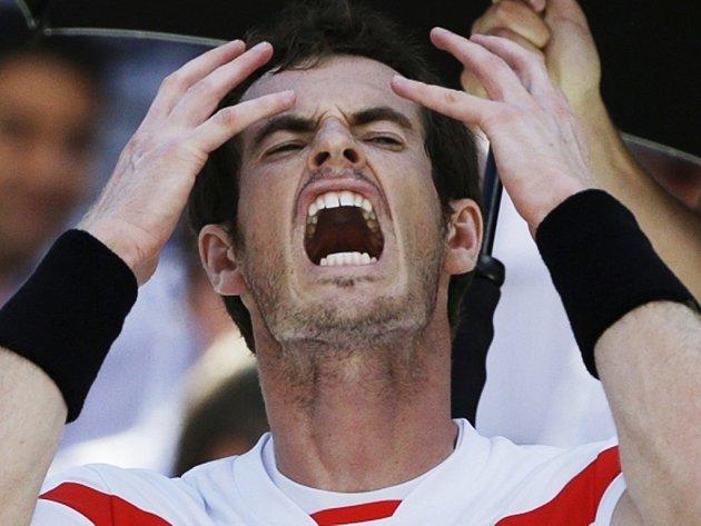 Andy Murray nebyl ve čtvrtfinále US Open v ideálním psychickém rozpoložení.