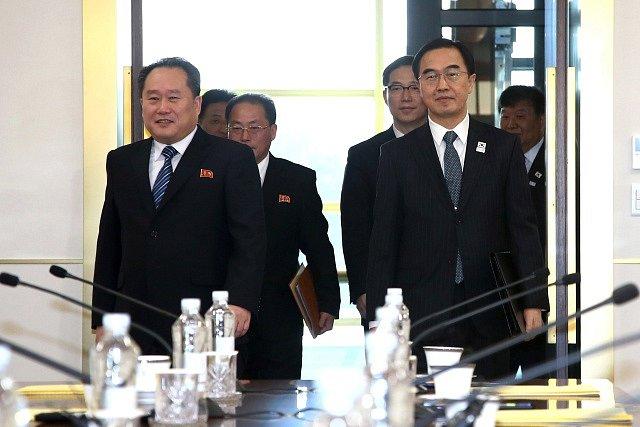 Jednání Jižní a Severní Koreje.