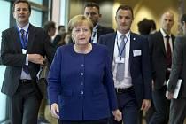 Německá kancléřka Angela Merkelová na summitu EU