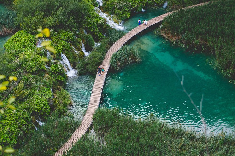 Dovolená, Chorvatsko, Plitvická jezera.