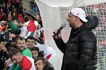 Trenér Slavie Jindřich Trpišovský po postupu do čtvrtfinále Evropské ligy.