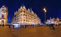 Noční obloha nad Prahou