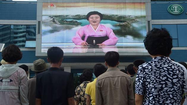 Severokorejská moderátorka Ri Čchun-hi