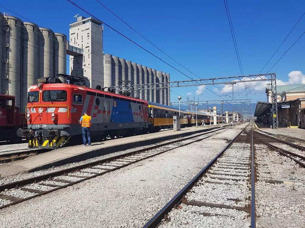 První vlak RegioJetu dorazil do stanice Rijeka