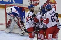 Čeští hokejisté na úvod turnaje v Praze porazili Finy 2:1