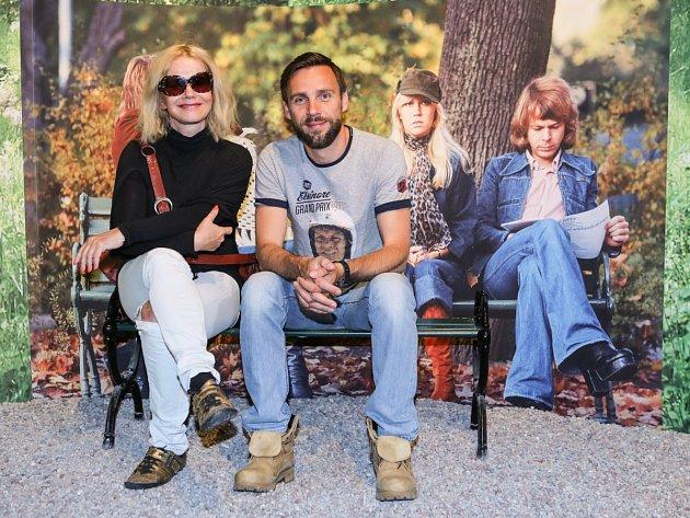 Protagonisté muzikálu Mamma Mia!, Jitka Asterová a Roman Vojtek, navštívili ABBA muzeum ve Stockholmu.