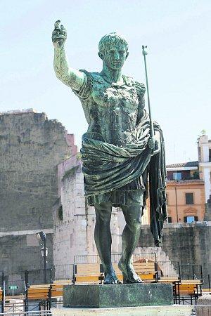 Socha císaře Augusta vŘímě.