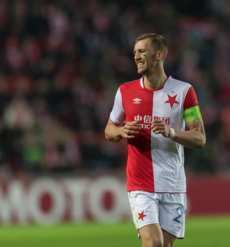 SK Slavia Praha vs. KRC Genk. Na snímku Tomáš Souček.