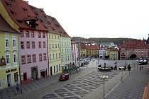 Cheb - náměstí krále Jiřího z Poděbrad
