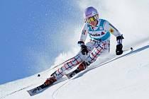 Kateřina Pauláthová v obřím slalomu obřím slalom SP ve Svatém Mořici.
