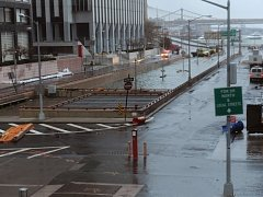 Ničivá bouře zatopila ulice New Yorku