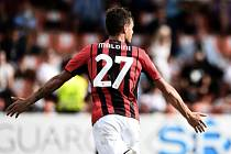 Daniel Maldini se raduje z první branky v dresu AC Milán.
