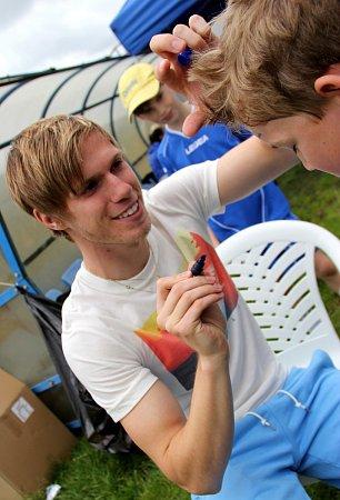 Tomáš Kalas rozdával autogramy na turnaji McDonald´sCup.
