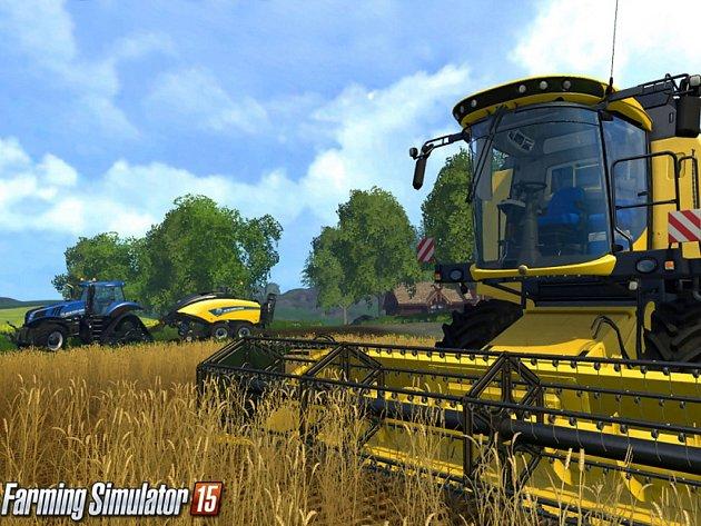 Konzolová hra Farming Simulator 15.